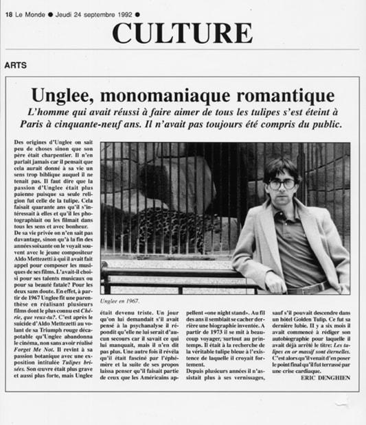 Unglee, monomaniaque romantique, 1993-1995