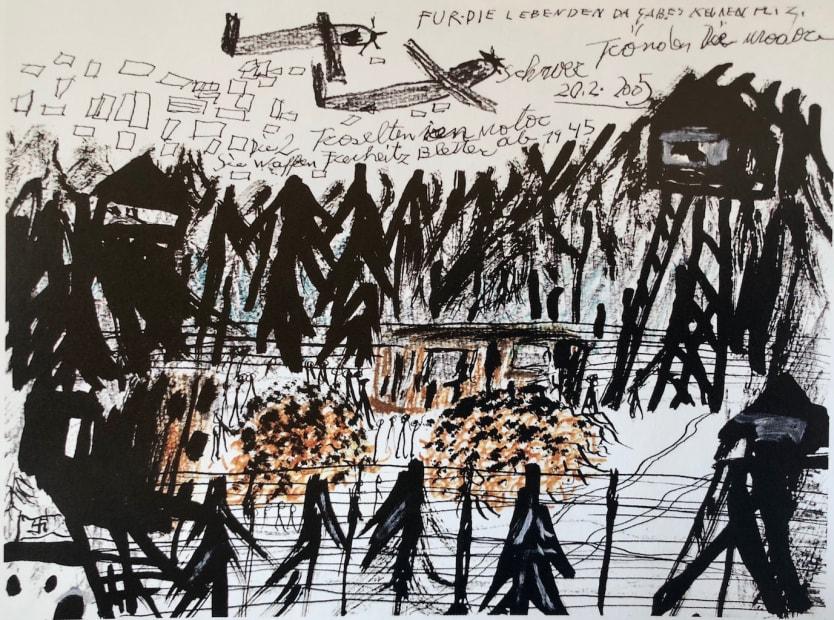 Là, il n'y avait pas de place pour les vivants.... ( Bergen-Belsen, ref 817), 20/02/2005