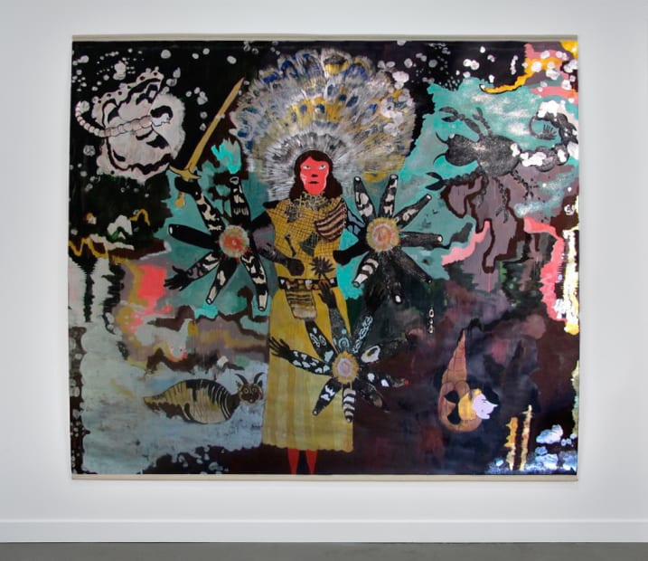 Hélène DELPRAT Inca Song Peinture 210 x 260 cm 82,7 x 102,4 in