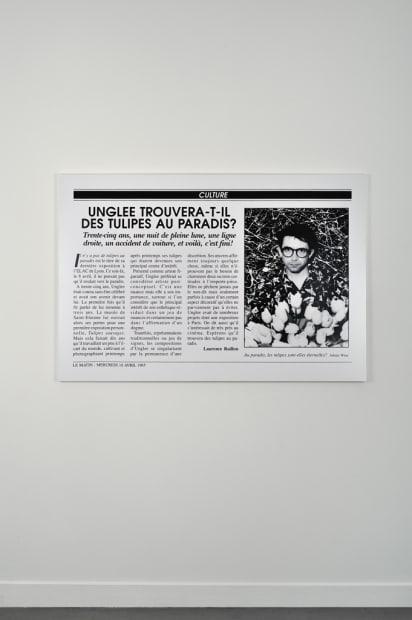 Unglee trouvera-t-il des tulipes au paradis ? Paris 1993, 1995