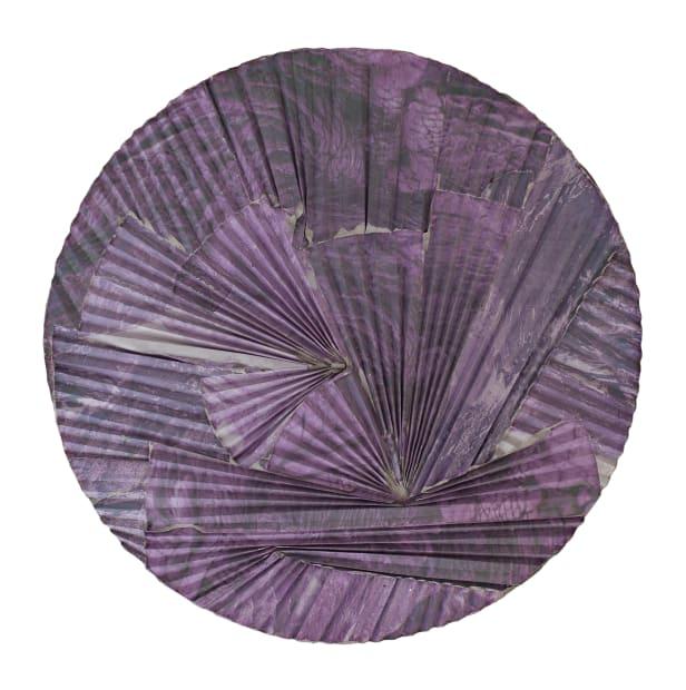 Purple Lava Concrete Ripple Tondo, 2016