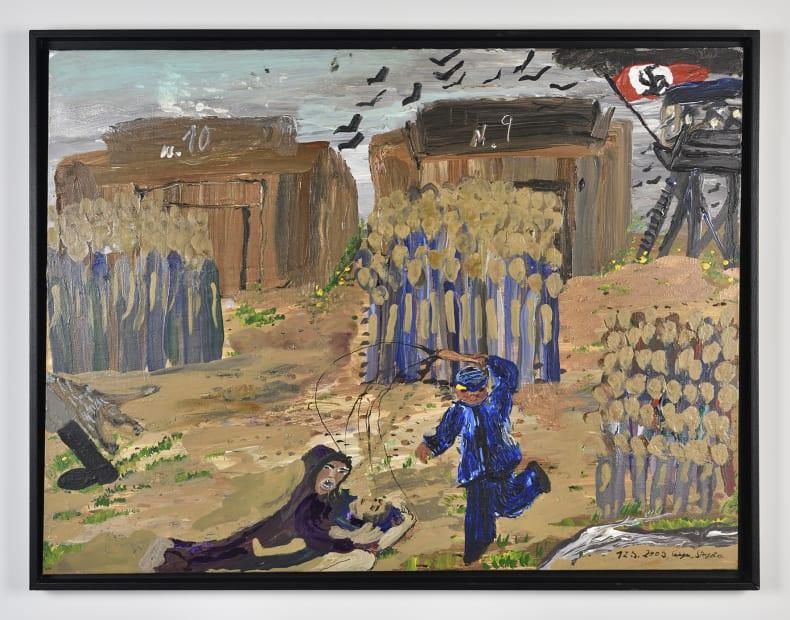 Sans titre, baraquement 10 et 9, Auschwitz, ref 786, 12/05/2009