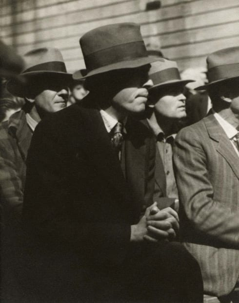 Waterfront Protest - The Audience Listens, San Francisco, 1934