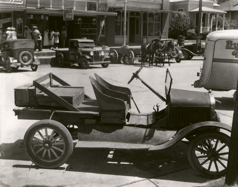 Street Scene with Cars, late 1930's