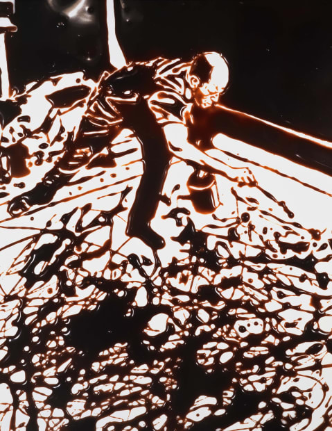 Action Photo, After Hans Namuth Photographing Jackson Pollock, 1997