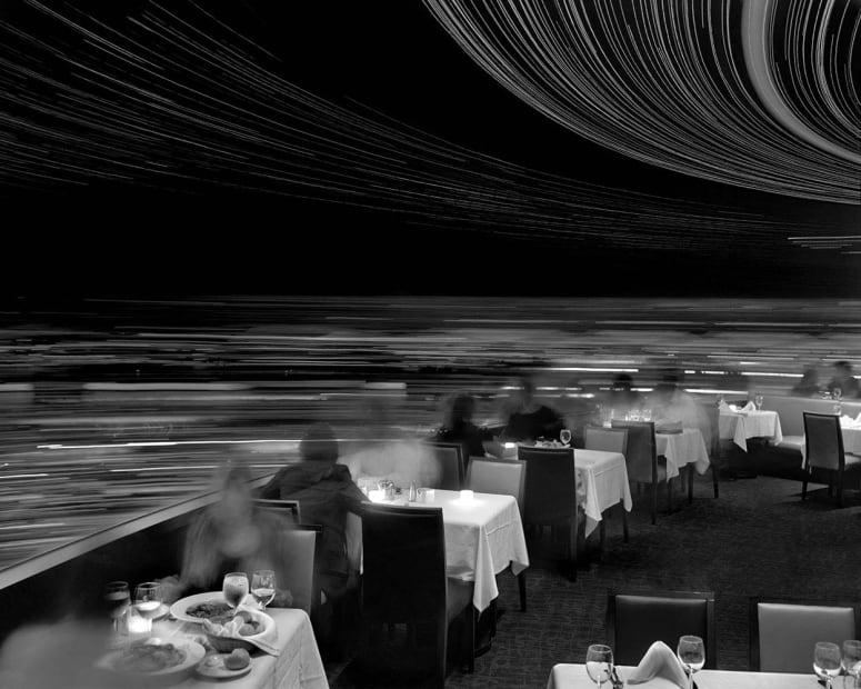 Dinner at Cloud 9, Revolving Restaurant, Vancouver, 2009