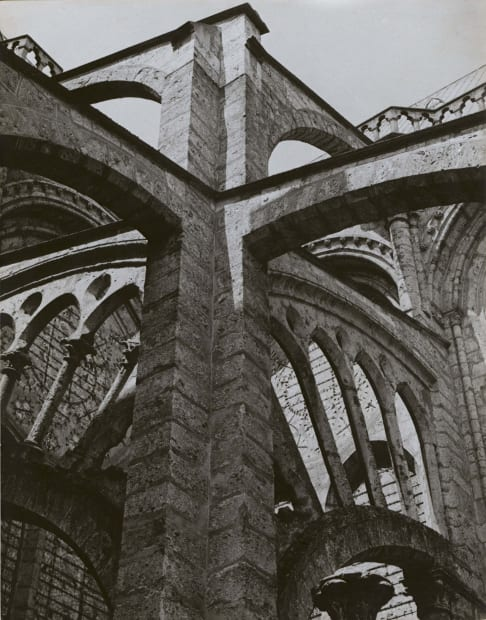 Chartres - Flying Buttresses at the Crossing, 1929