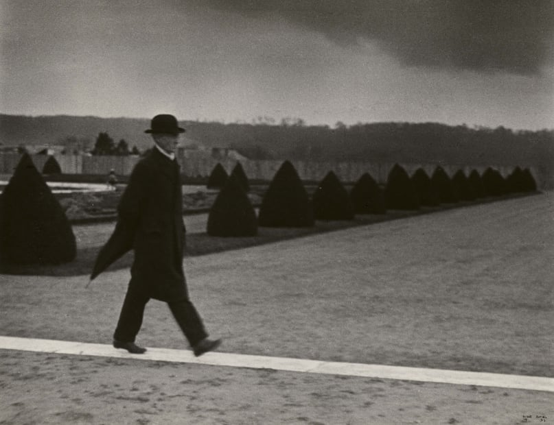 Bourgeois Walking Along Path, Versailles, 1931