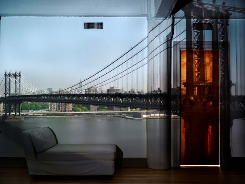 Camera Obscura: View of the Manhattan Bridge, April 30th, Morning, 2010
