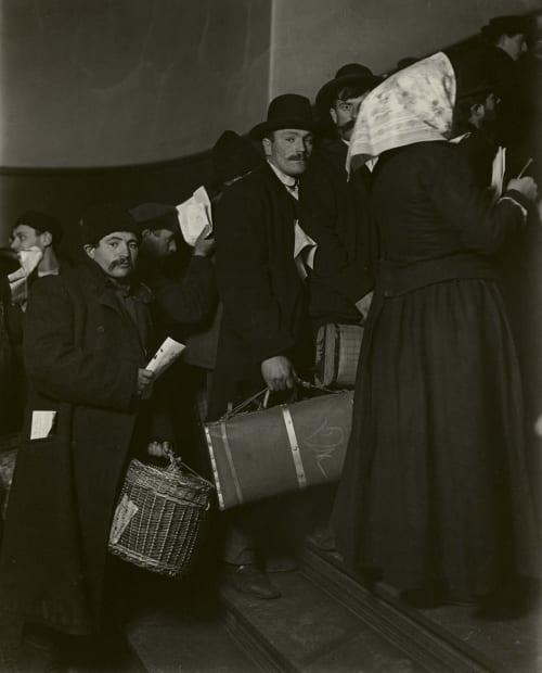 Climbing into America, Ellis Island, 1905