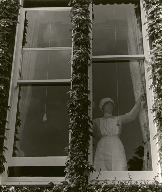Parlourmaid at a Window in Kensington, c. 1939