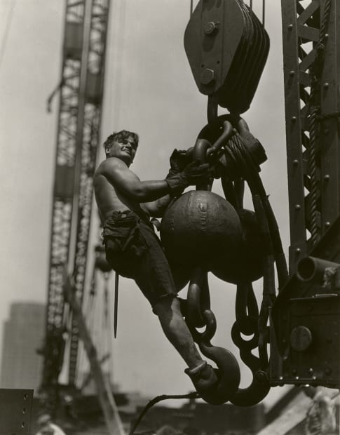 Connector on a Hoist, Empire State Building, 1931