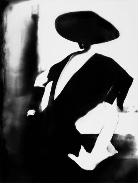 Black - with One White Glove, Barbara Mullen, dress by Christian Dior, New York, Harper's Bazaar, 1950