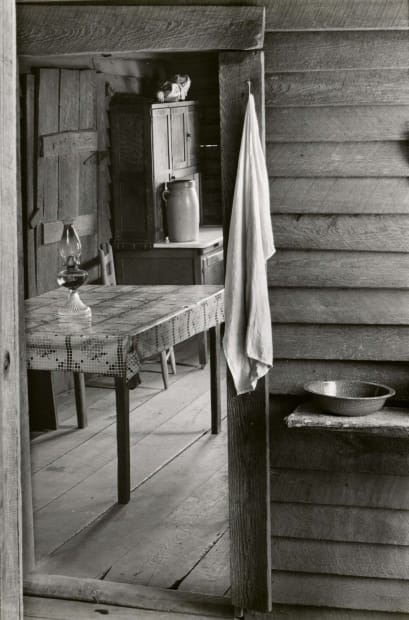 Washroom and Dining Area of Floyd Burroughs' Home, Hale County, Alabama, 1936