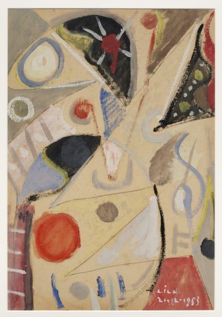 Composición (juego con líneas y colores), 1953