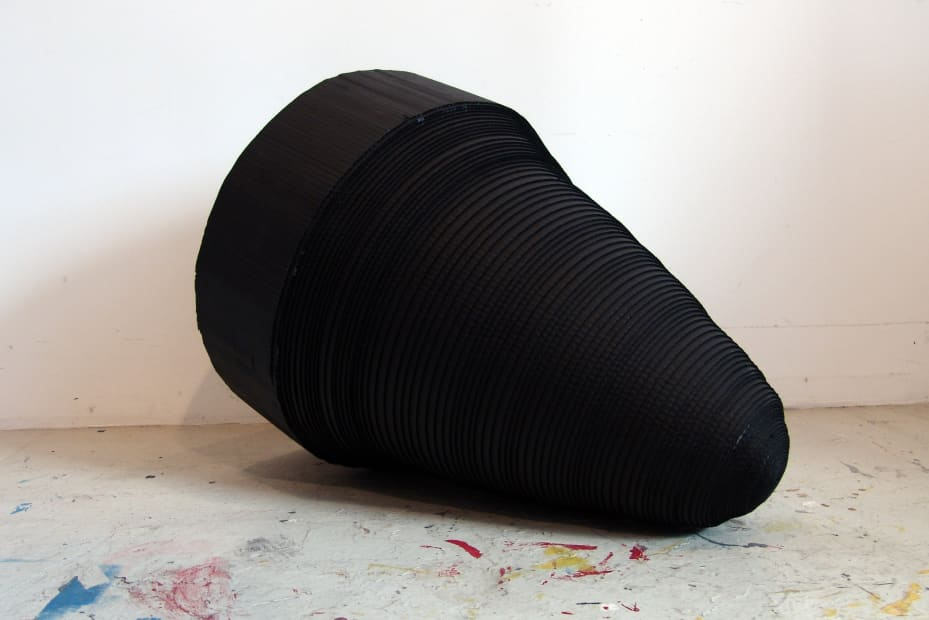 Joseph La Piana, Black Corrugated Sculpture, 2013
