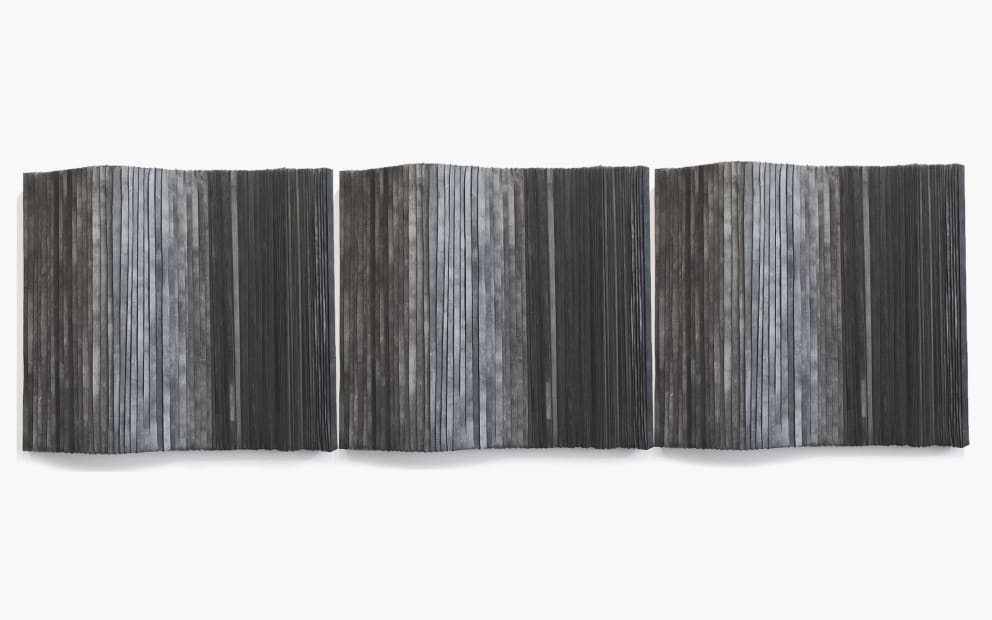 Joseph La Piana, Wall Tension Relief Triptych, 2013
