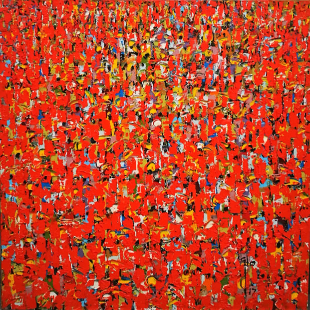 Ablade Glover, Red People, 2017