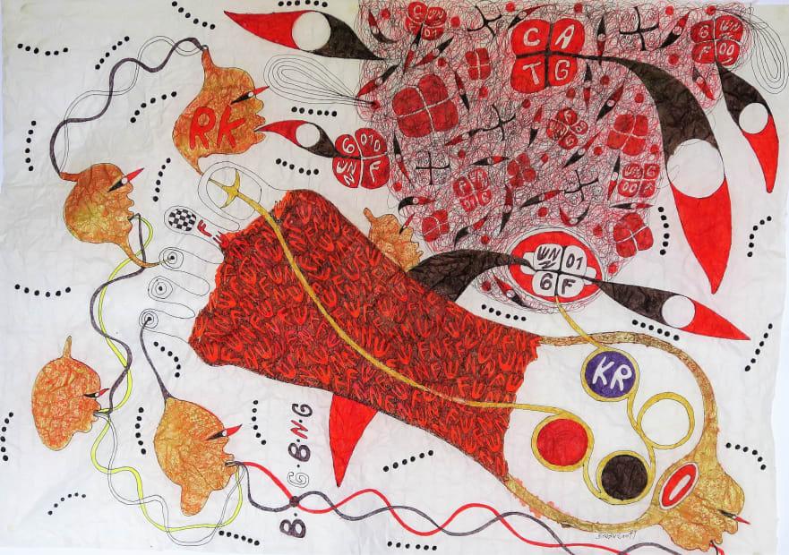 Ernest Dükü, Foot Prints @ Enigme du code 006 NN AWUNANFUE, 2016