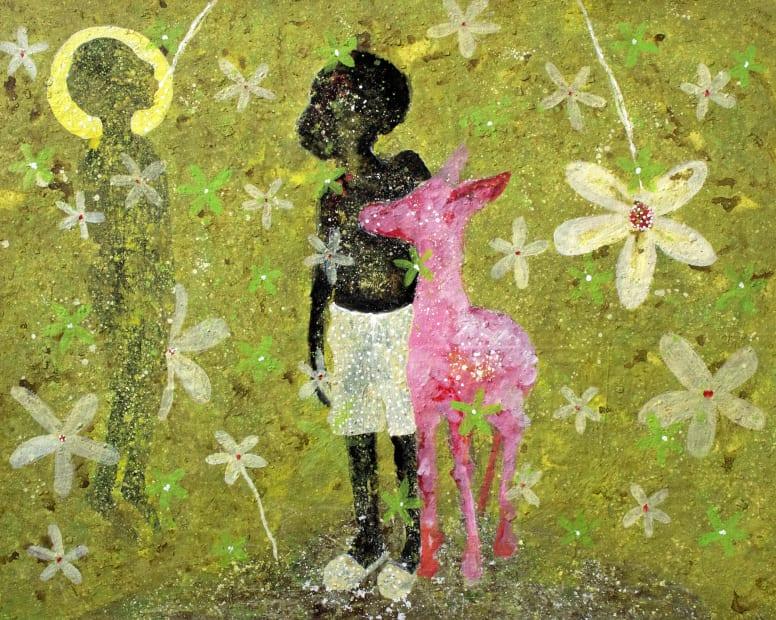 Alhassane Konté (Lass), La biche rose, 2021