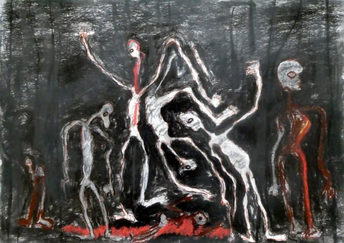 Rodrigue Obodjé, Esprits de la forêt 5, 2019