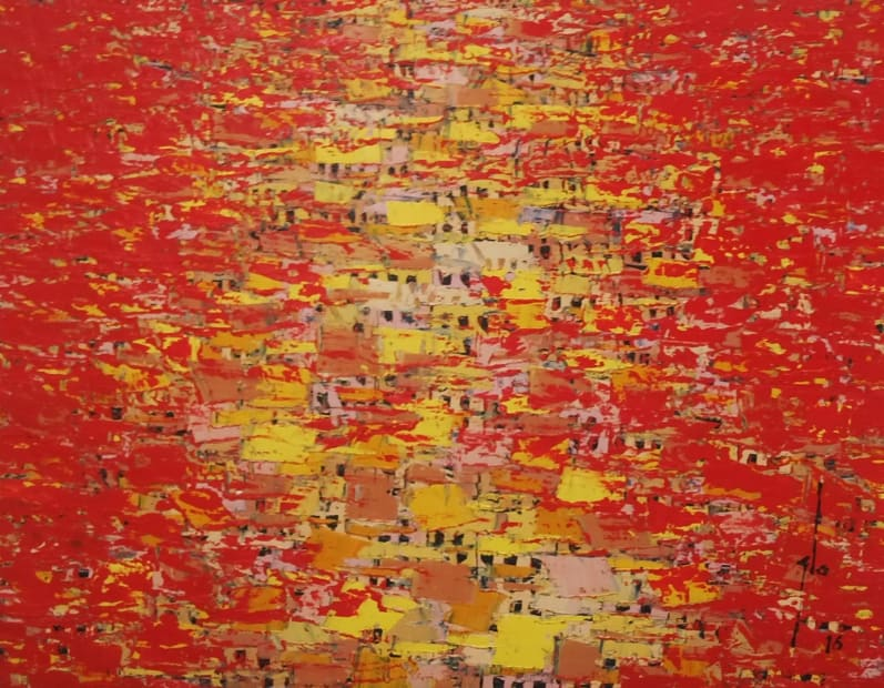 Ablade Glover, Red Towscape, 2016