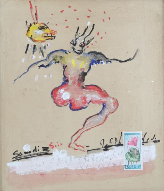 Dominique ZINKPE, Etats d'âme, Dessin secret 2, 2021