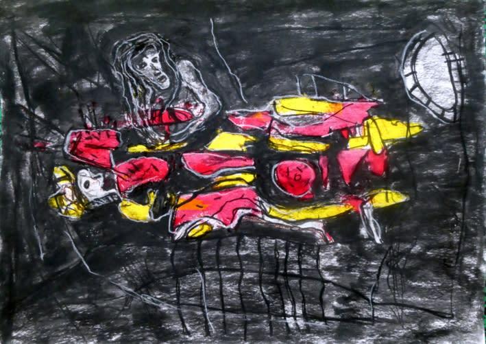 Rodrigue Obodjé, Réfugiés 2, 2019