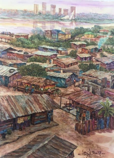 Leslie Lumeh, Les cabanes d'Abidjan, 2017