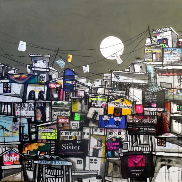 Obou Gbais, Locodjro Street Collage 2, 2019