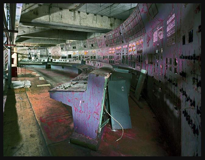Unit 4 Control Room, Chernobyl, 2001