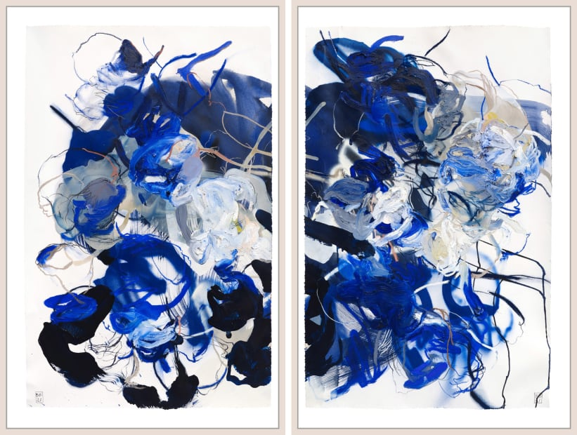 Study for Night Floral #1, 2, 2021