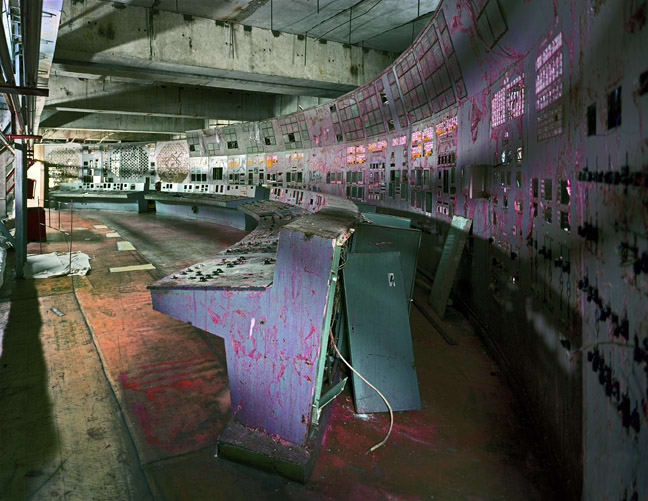 Unit 4 Control Room, Chernobyl, 2001