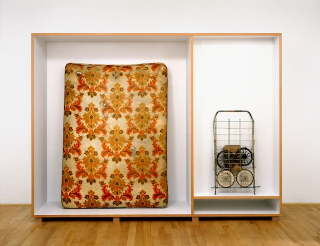 Untitled (mattress shopping cart), 1990