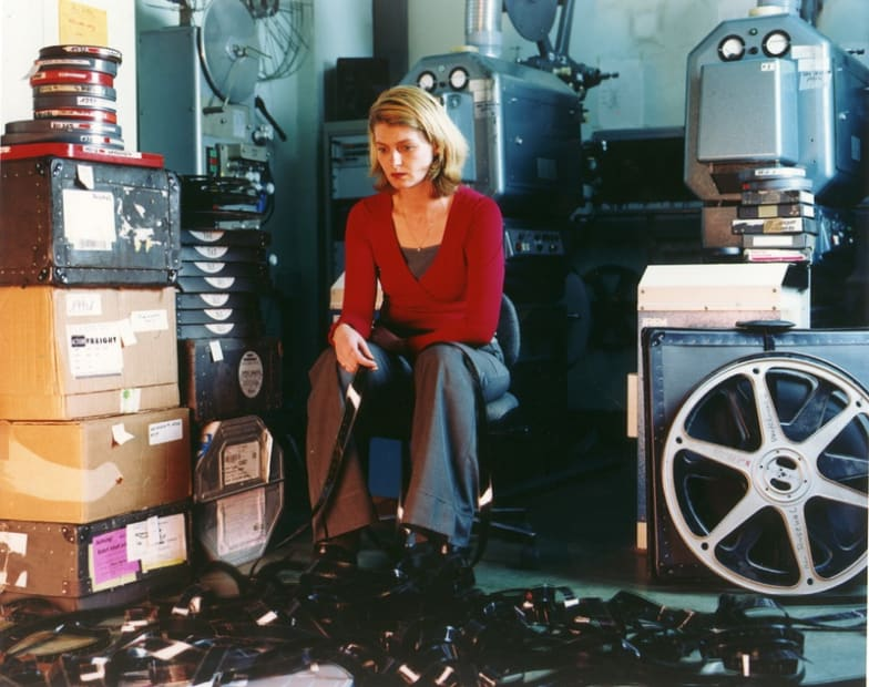 Arsenal, woman with tangled film, 2000