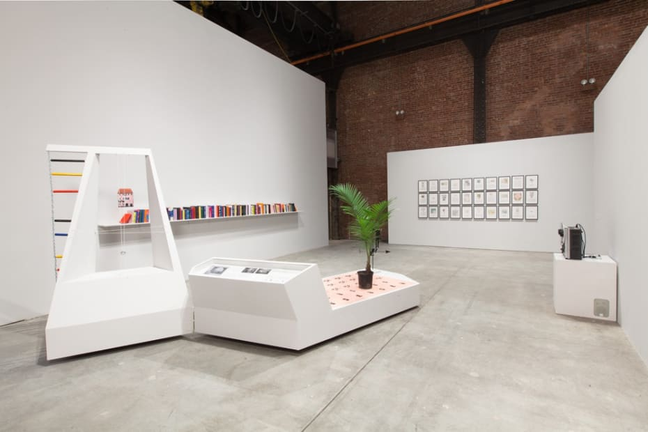 Installation view, exformation, Sculpture Center, Long Island City, New York, 2013-2014