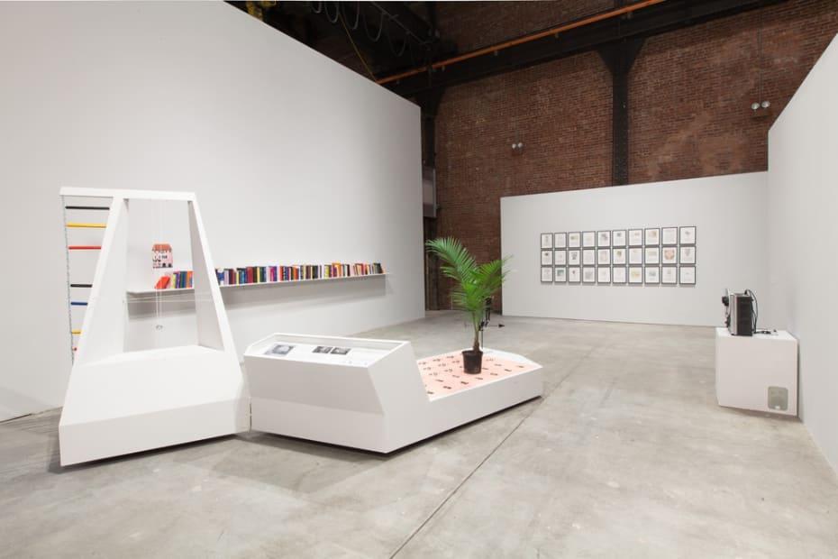 Installation view, exformation, Sculpture Center, Long Island City, New York, 2013-2014