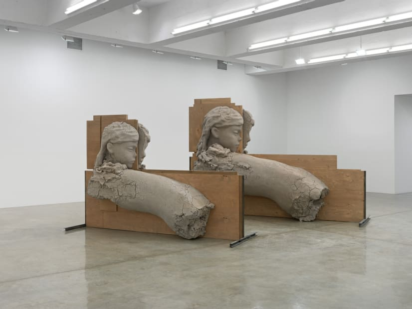 Room with Unfired Clay Figures, 2011-2015