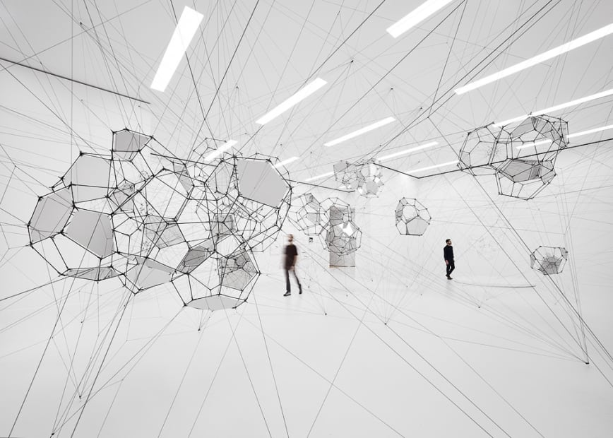 Installation view, Stillness in Motion — Cloud Cities, Museum of Modern Art, San Francisco, 2016
