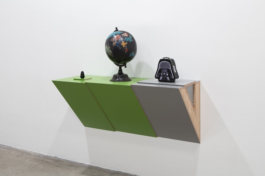 Untitled (dog chew, globe, Darth Vader), 2016