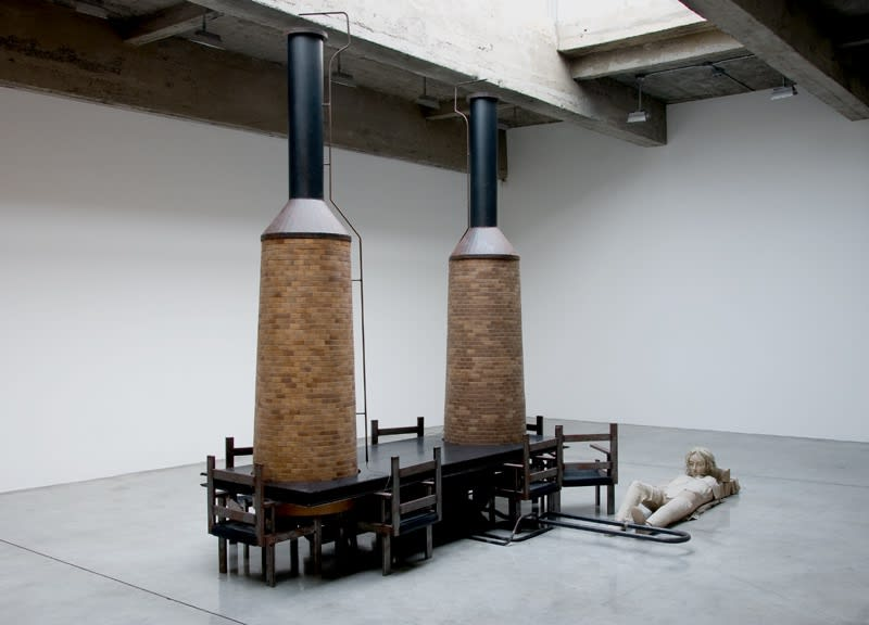 Room with Chairs and Factory, 2003-2008