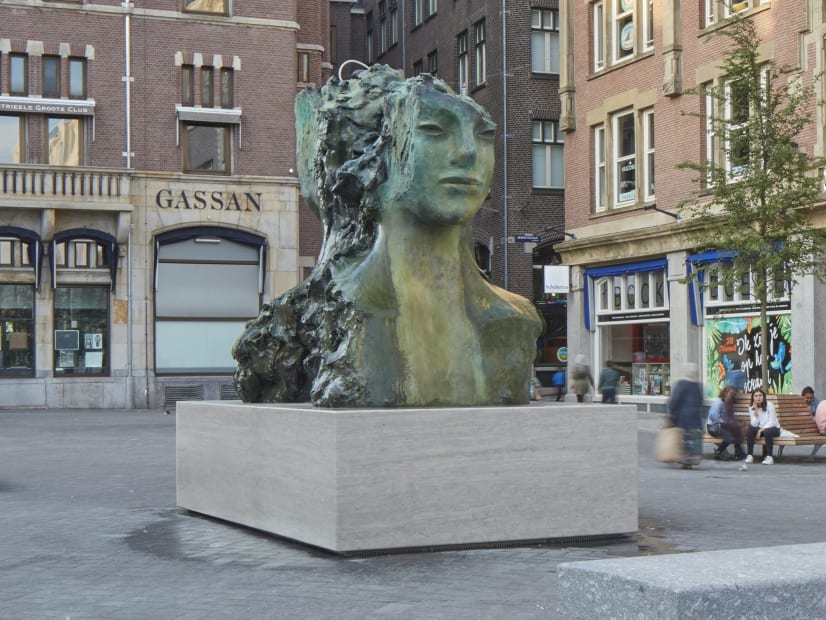 PERMANENT INSTALLATION: Two Immovable Heads, Rokin Square, Amsterdam, 2015-16