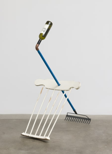Catachresis #55 (neck of the bottle, elbow of the pipe, back of the chair, teeth of the rake), 2016
