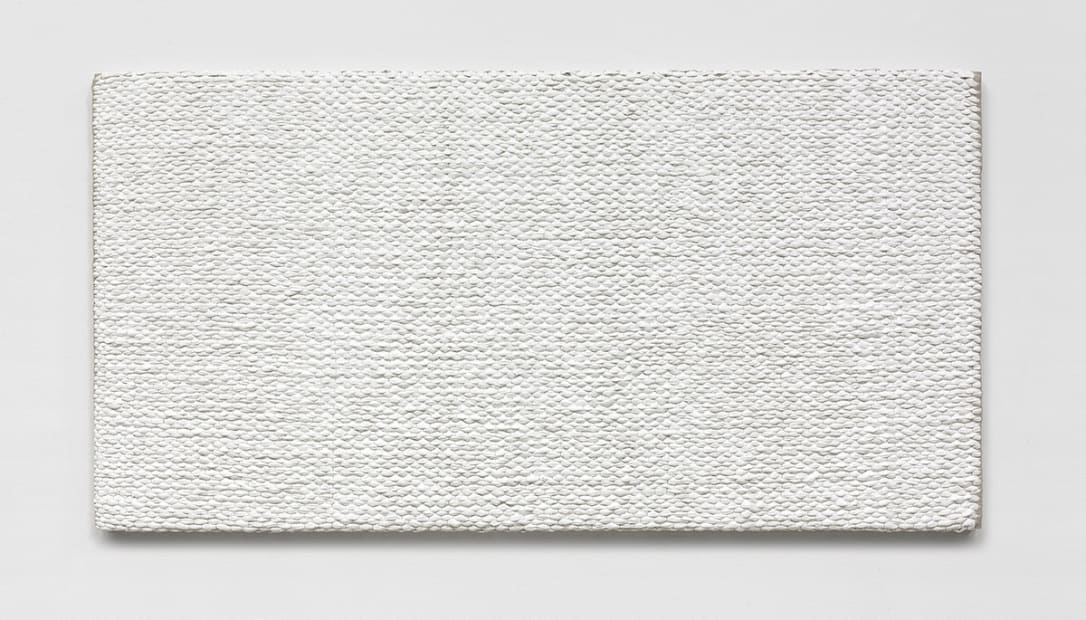 Woven Solid as Warp, Horizontal (White) #1, 2017