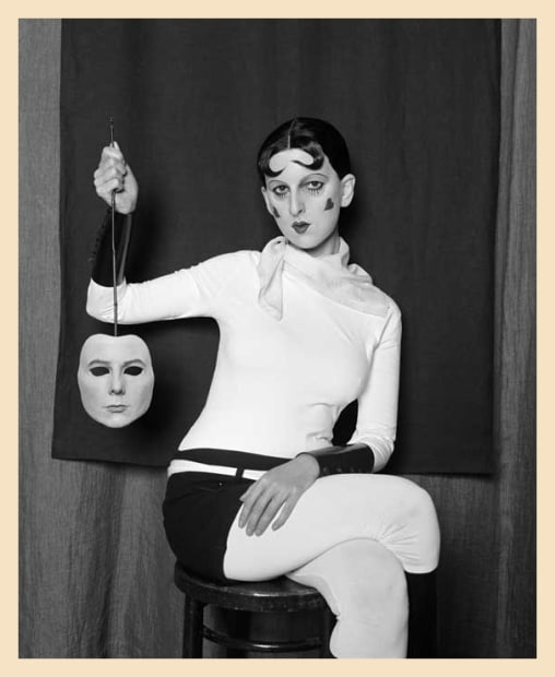 Me as Cahun Holding a Mask of My Face, 2012