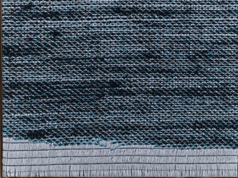 Jacquard Weave (Denim, Version I) [detail], 2017