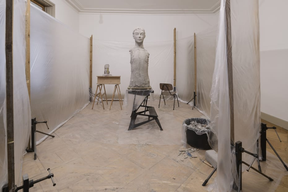 Room with Unfired Clay Figure, 2014