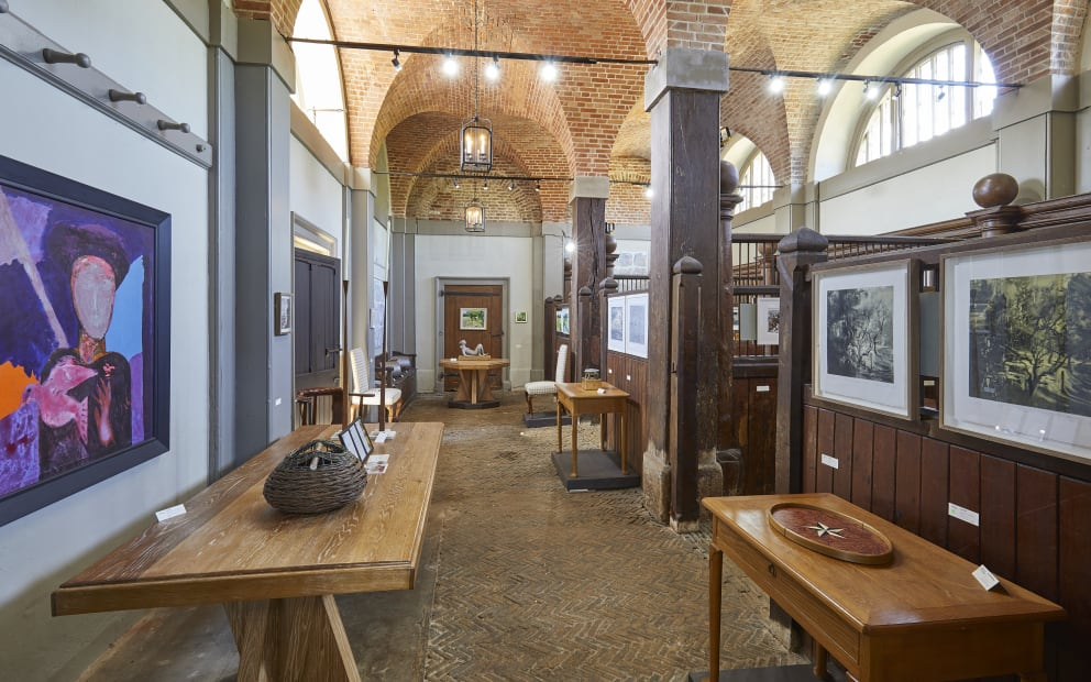 Interior of the Stables showing work during Festival, our pop up in 2019 © Pete Huggins
