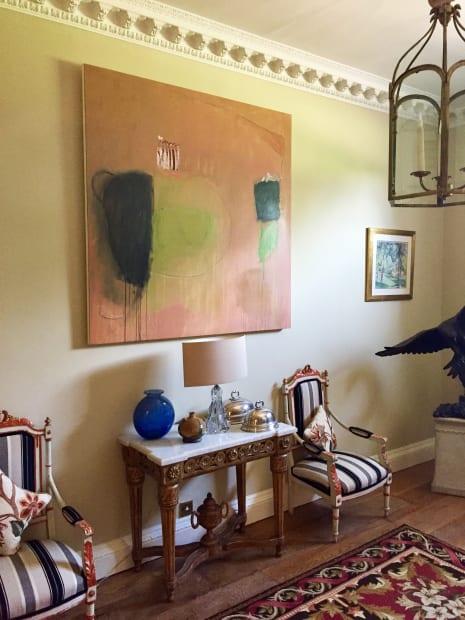 Felice Hodges. Indian Summer II. Mixed media on canvas. 150 x 150cm. £8000.00