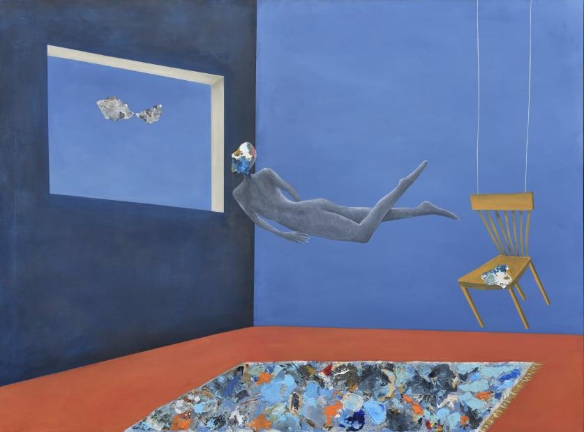 Floating, Acrylic on canvas, 110x150cm